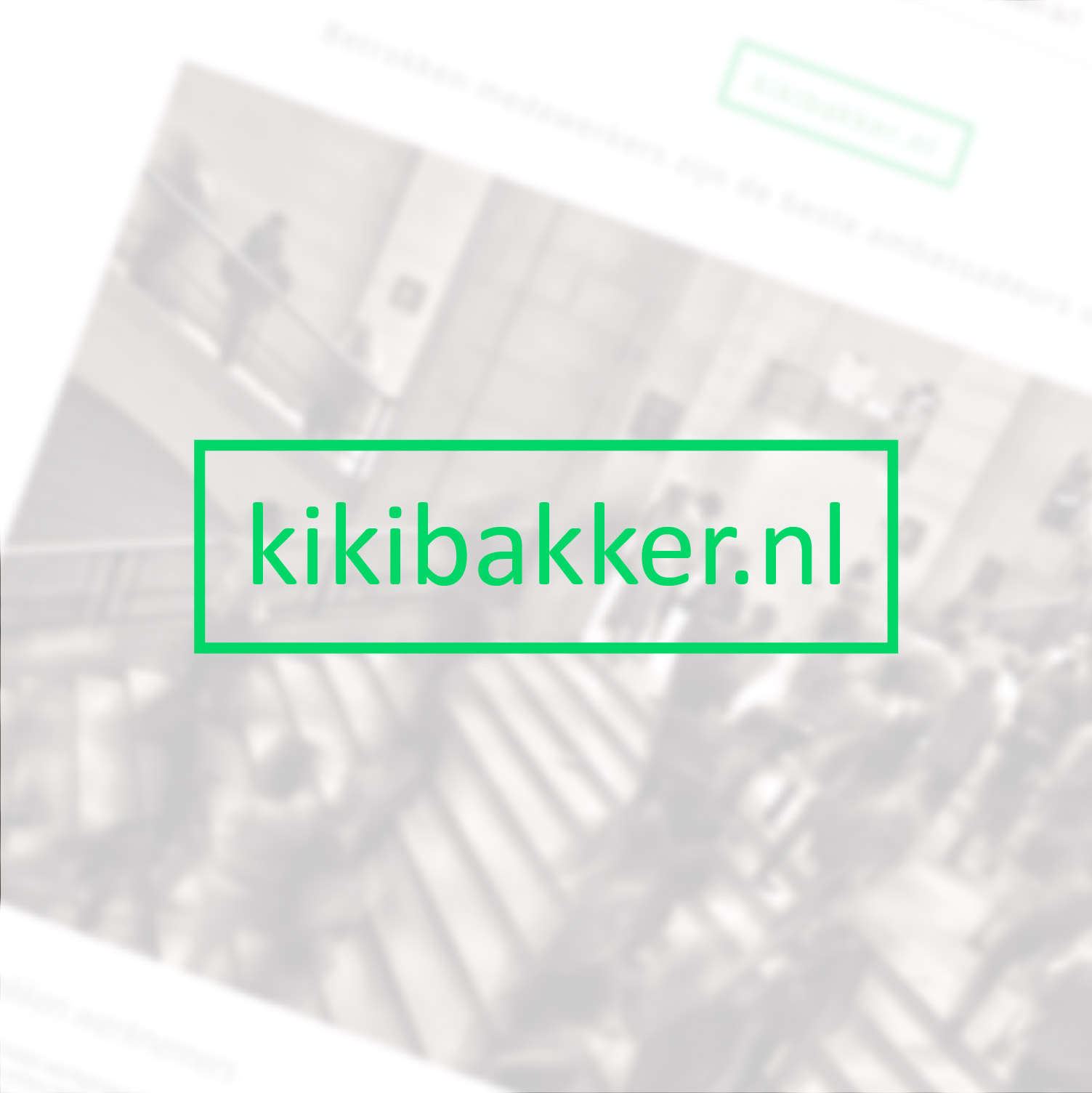 Kiki Bakker | Website for an Employee Engager